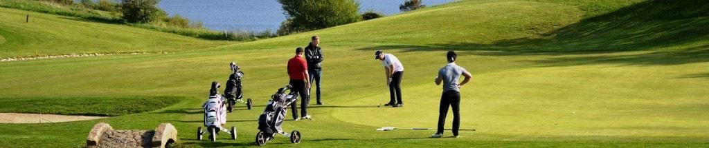 Banner hul 18 Hobro Golfklub 4 mand der spiller